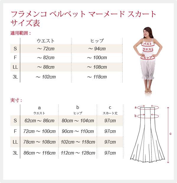 スカートサイズ表