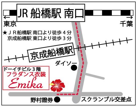 フラメンコフラダンス衣装emikaのお店の地図