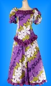 フラダンス衣装ムームー MU03pu4の詳細画像を見る